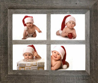 Four Opening Windowpane Collage Frame, 8x10 openings