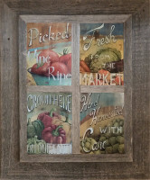 Four Opening Windowpane Collage Frame, 5x7 openings