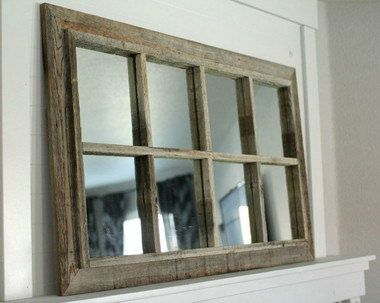 Barnwood Windowpane Mirror- 8 Panes
