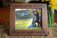 8x10 Personalized Engraved Anniversary Frame - Solid Wood