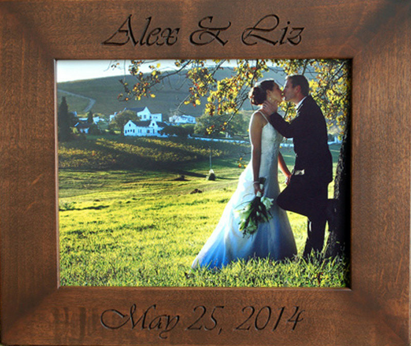 Personalized Wedding Picture Frames 8x10 : Picture Frames Rustic Picture Frames 8x10 Personalized Wedding Frame ...
