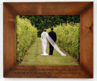 8x10 Engraved Wood Frame - Personalize With Your Own Quote