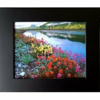 Black Picture Frames - 8x10 Basic Black Wood Frame - Hardwood