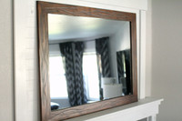 Rustic Heavily Distressed Wood Mirror - Sedona