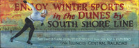Vintage Winter Sports Sign