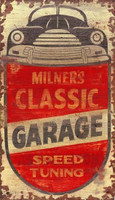 Vintage Milner's Auto Mechanic Sign
