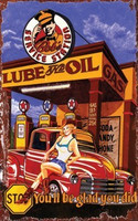 Vintage Lube And Oil Sign