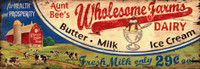 Vintage Aunt Bea Dairy Sign