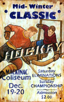 Vintage Hockey Sign