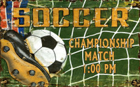 Vintage Soccer Room Sign