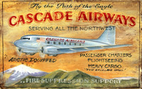 Vintage Cascade Airways Sign