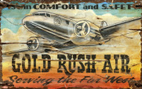 Vintage Gold Rush Airline Sign