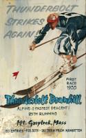 Vintage Thunderbolt Ski Sign