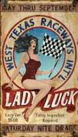 Vintage Lady Luck Sign