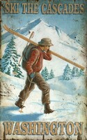 Vintage X-Country Ski Sign