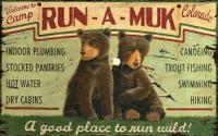 Vintage Run-A-Muk Sign