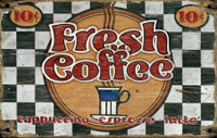 Vintage Fresh Coffee Sign