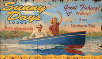 Vintage Lake Resort Sign