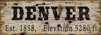Vintage Denver City Sign