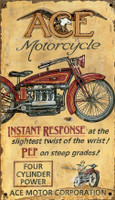 Vintage Ace Motorcycles Sign