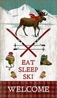 Vintage Eat Sleep Ski Sign