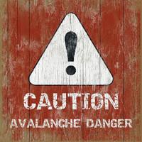 Vintage Ski Avalanche #5 Sign