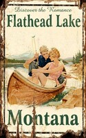 Vintage Flathead Lake Sign