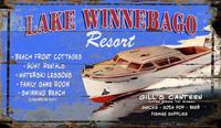 Vintage Lake Winnebago Sign