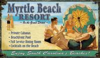 Vintage Myrtle Beach Sign