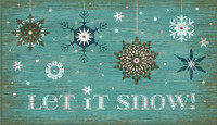 Vintage Set it Snow Sign