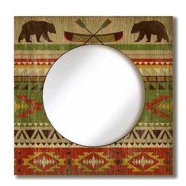 Vintage Camp Blanket Mirror