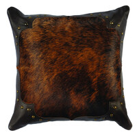 Dark Brindle Hide Pillow #3