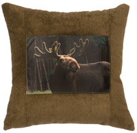 Blast Seagrass Moose Fabric Pillow