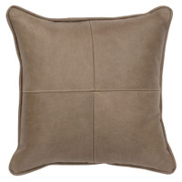 Four Sectioned Silver Fox Leather Pillow