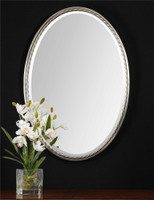 Uttermost Casalina Nickel Oval Mirror