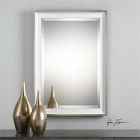 Uttermost Lahvahn White Silver Mirror