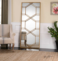 Uttermost Kennis Gold Leaf Leaner Mirror