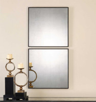 Uttermost Matty Antiqued Square Mirrors, S/2