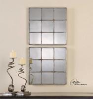 Uttermost Derowen Squares Antique Mirrors S/2