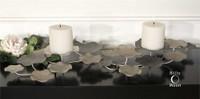 Uttermost Lying Lotus Metal Candleholders