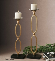 Uttermost Lauria Chain Link Candleholders S/2