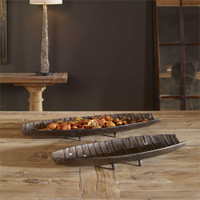 Uttermost Aida Dark Nickel Trays, S/2