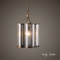Uttermost Croydon 1 Light Mercury Glass Pendant