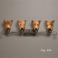 Uttermost Vetraio 4 Light Bronze Vanity Strip