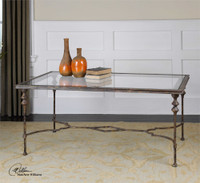 Uttermost Quillon Glass Coffee Table
