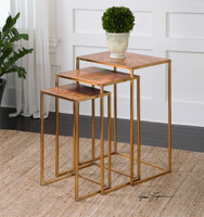 Uttermost Copres Oxidized Nesting Tables Set/3