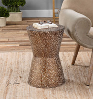 Uttermost Cutler Drum Shaped Accent Table
