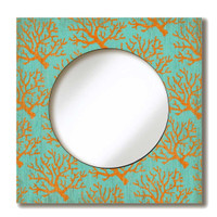 Coral Lace Mirror Sign
