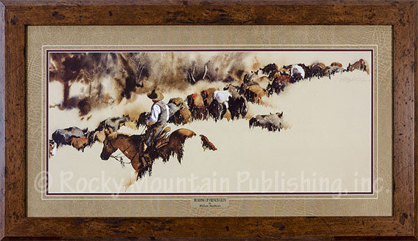 Heading Up French Glen Framed Western Art Print Of