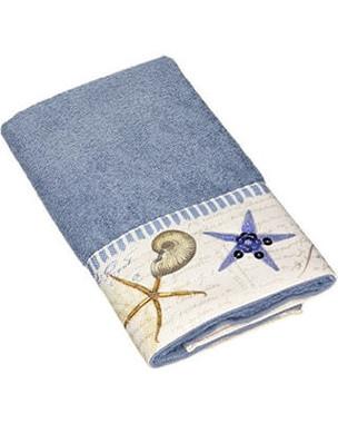 Antigua Blue Fog Bath Towels Beach Themed Bath Accessories